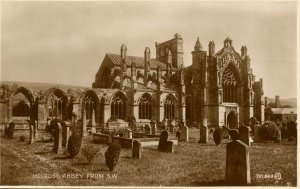 UK - Scotland,  Melrose Abbey from Southwest *RPPC