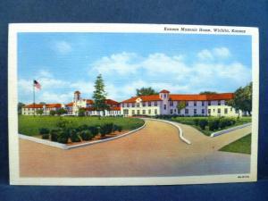 Postcard KS Wichita Kansas Masonic Home