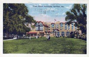 Elms Hotel Excelsior Springs Missouri Posted Vintage White Border Post Card