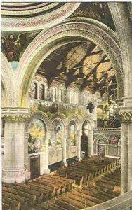pc9362 postcard Stanford U California Memorial Church Hand Colored MOBSC