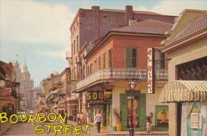 French Quarter on Bourbon Street, 500 Club, New Orleans, Louisiana, PU-1967