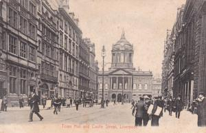 LIVERPOOL, Lancashire, England, United Kingdom, 1900-10s; Town Hall and Castl...