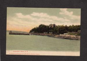 NB Harbor Boats House Campobello New Brunswick Canada Postcard Carte Postale