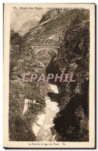 Old Postcard Alpine Road Gorges Daluis has Guillaumes