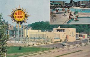 ARLINGTON , Virginia , 1950s-60s Quality Courts Motel South Gate, Swimming Pool