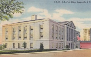 GREENVILLE, South Carolina, 1930-1940s, C.T.11-U.S. Post Office