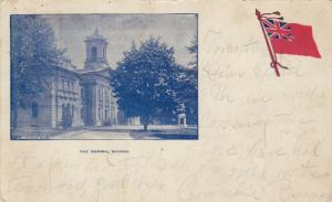 Normal School , Toronto , Ontario , Canada , 1907 w/flag ; Version-2