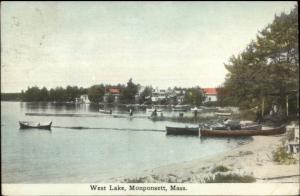 Monponsett MA West Lake c1910 Postcard