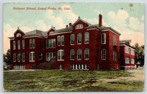 Grand Forks North Dakota~Brand Spanking New Belmont School~Fire Escapes~c1910