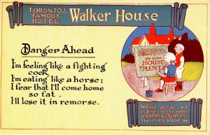 Canada - ON, Toronto. Walker House Hotel Advertisement