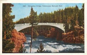Wyoming~Chittenden Bridge Yellowstone~Longest Milan Arch in World~1920s Postcard