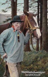 Westfalische Bauerntypen , Germany , 1900-10s ; Zwei gute Freunde