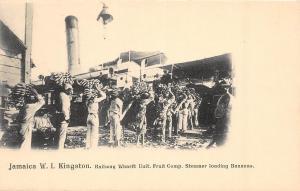 D72/ Foreign Postcard Jamaica c1910 Occupational Railway Fruit Steamer Bananas