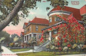 Residences, Santa Rosa, California, Early Postcard, Unused