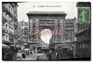 Postcard Old Paris Porte Saint Denis