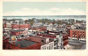 Port Huron Michigan Birdseye View Of Town Detroit Pub Antique Postcard K22706