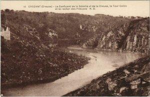 CPA CROZANT Le Confluent de la Sedelle et de la Creuse - Tour Colin (1143783)