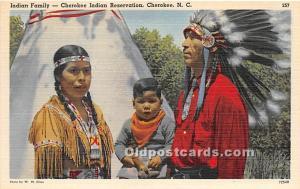 Indian Family, Cherokee Indian Reservation Cherokee, North Carolina, NC, USA ...