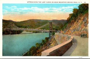 New York Bear Mountain Hudson River Bridge Road Approaching The Last Curve 1926