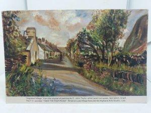 Postcard Highland Village Painting by C John Taylor Seil Island Take The High Rd