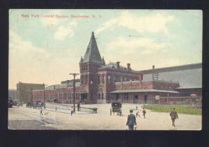 ROCHESTER NEW YORK CENTRAL RAILROAD STATION TRAIN DEPOT NY VINTAGE POSTCARD