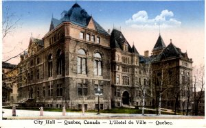 Quebec, Canada - City Hall and L'Hotel de Ville - c1930