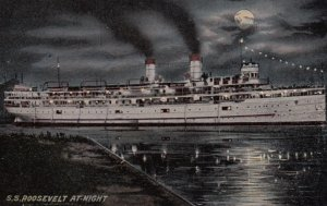 S.S. Roosevelt at Night, 1900-10s