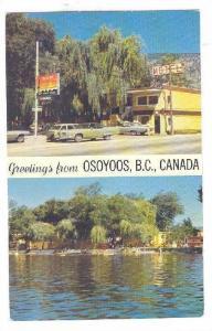2-Views, Greetings from Desert Motor Inn, Osoyoos, British Columbia, Canada, ...