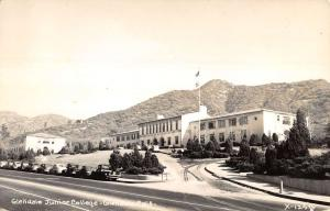 Glendale Calfornia Junior College Real Photo Antique Postcard K18962