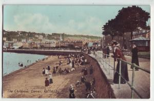 P887 the childrens corner rothesay bathing beach town view scotland