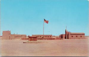 Fort Bliss El Paso Texas TX Flag Unused Vintage Postcard F2