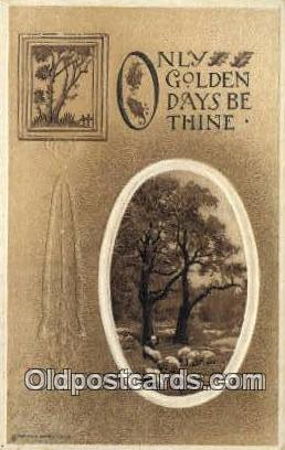 Golden days be thine Religion, Religious Old Vintage Antique Postcard Post Ca...