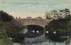 The Swans And Bridge, Franklin Park, BOSTON, Massachusetts, PU-1913