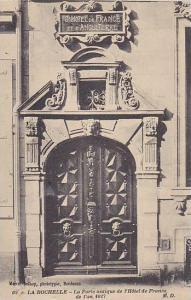 La Porte Antique De l'Hotel De France De l'An 1627, La Rochelle (Charente-Mar...