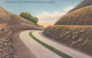 Pennsylvania Bedford Deepest Cut Little Panama On Pennsylvania Turnpike 1950
