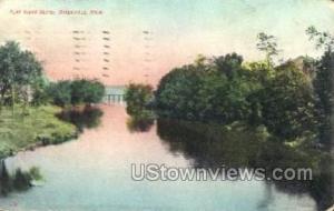 Flat River Scene Greenville MI 1910