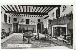 Northamptonshire Postcard - Great Hall - Rockingham Castle - RP - Ref 20071A