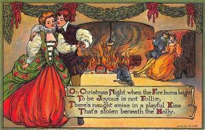 Ernest Nister Publisher On Christmas Night Signed Marion Miller Postcard