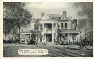 Dexter Hotel The Pines 1930s Raeford North Carolina Postcard 12786