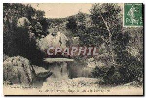 Old Postcard Aix en Provence Gorges of Arc St. Mark Arc