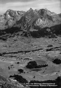 Switzerland Blick vom Kaserrugg Obertoggenburg auf Schwendiseen Wildhaus