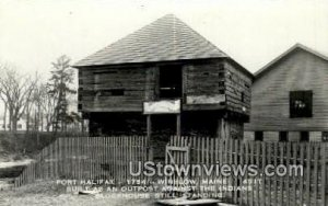 Real Photo, Fort Halifax, 1754 in Winslow, Maine