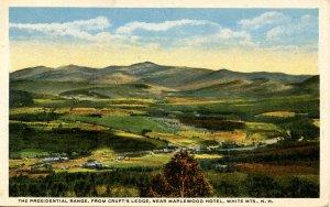 NH - The Presidential Range from Cruft's Ledge, Bethlehem