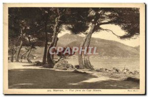 Old Postcard Menton View from Cap Martin