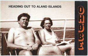 QSL, OH0BE, Brando, Aland Islands, 1986 (IOTA EU-002)