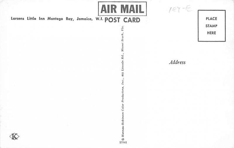 Jamaica, Jamaique Post card Old Vintage Antique Postcard Larsens Little Inn M...