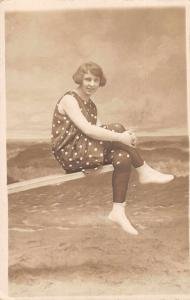 Atlantic City New Jersey Bathing Beauty Studio Real Photo Postcard J73826