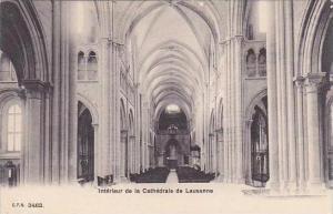 Switzerland Lausanne Interieur de la Cathedrale