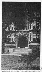 Administration Bldg, Webster College, Webster Groves, MO c1920s Vintage Postcard