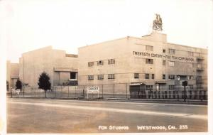 Fox Studios, Westwood, Los Angeles, California, Early Real Photo Card, Unused
